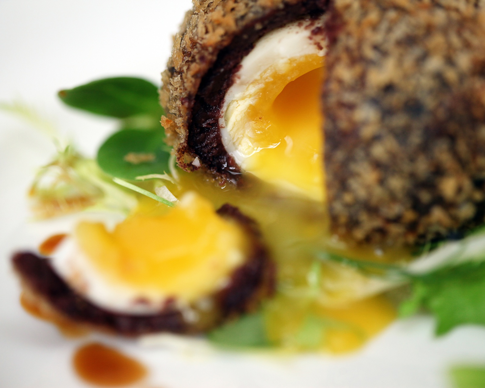 Colour photo of scotch egg dish prepared at Wasing Park Estate