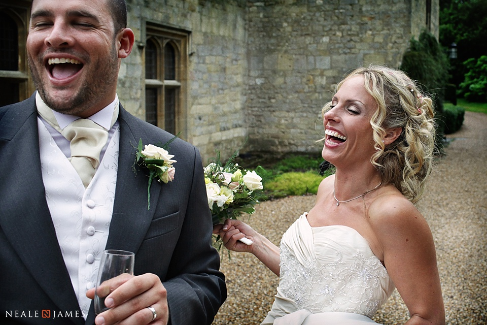 Happy couple at Notley Abbey
