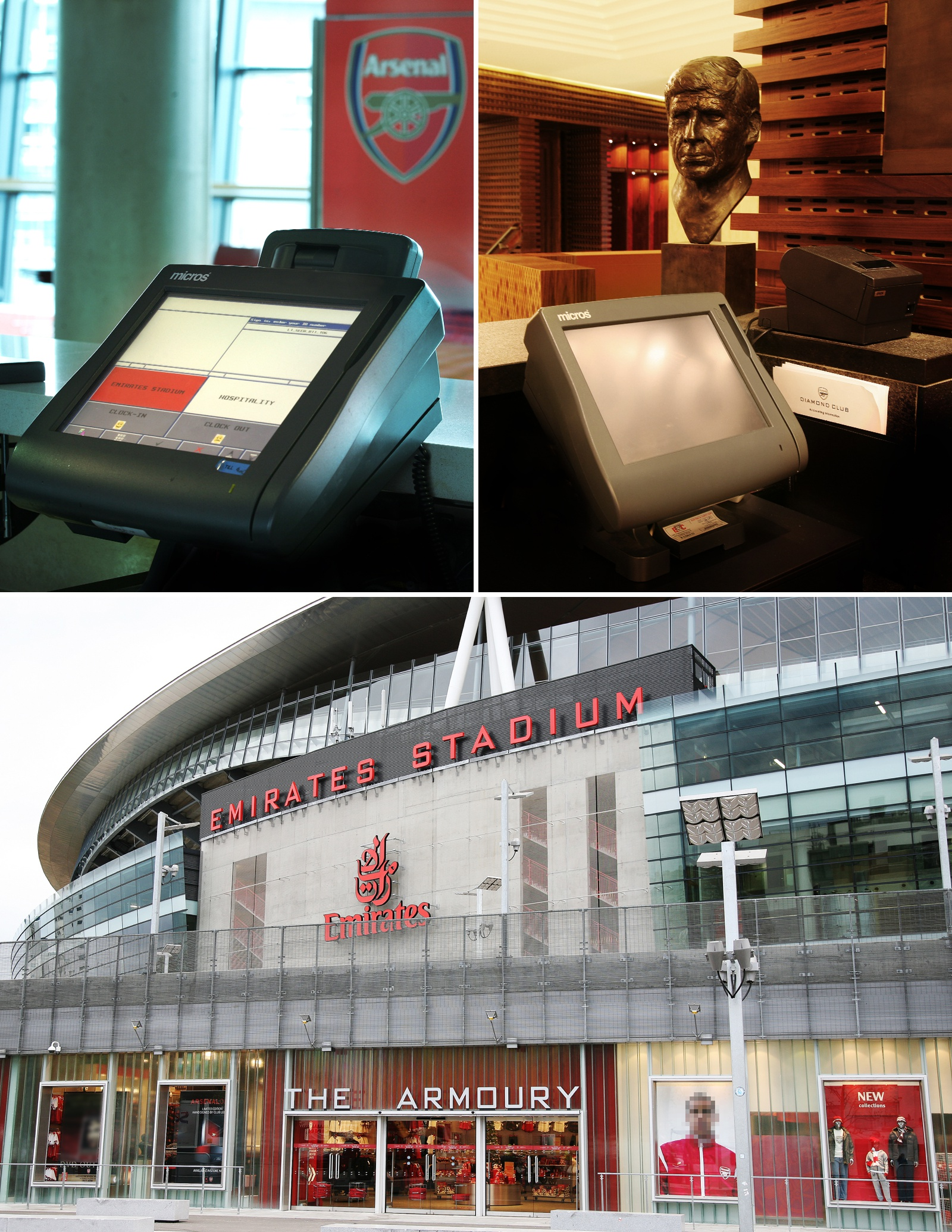 Interior photography at Arsenal The Emirates