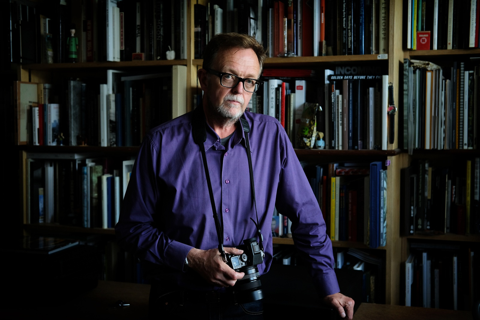 A colour photograph of the Magnum photographer Mark Power made by Neale James Breathe Pictures